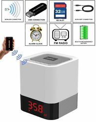 Boytone BT-83CR Portable FM Radio Alarm Clock Wireless Bluetooth 4.1 Speaker
