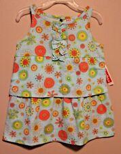 """GIRLS 2T sleeveless ruffle dress /""""flowers circles/"""" NWT Fisher-Price"""