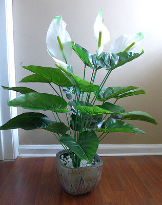 White Flowers Palm Tree Artificial Plants Home Wedding Decoration