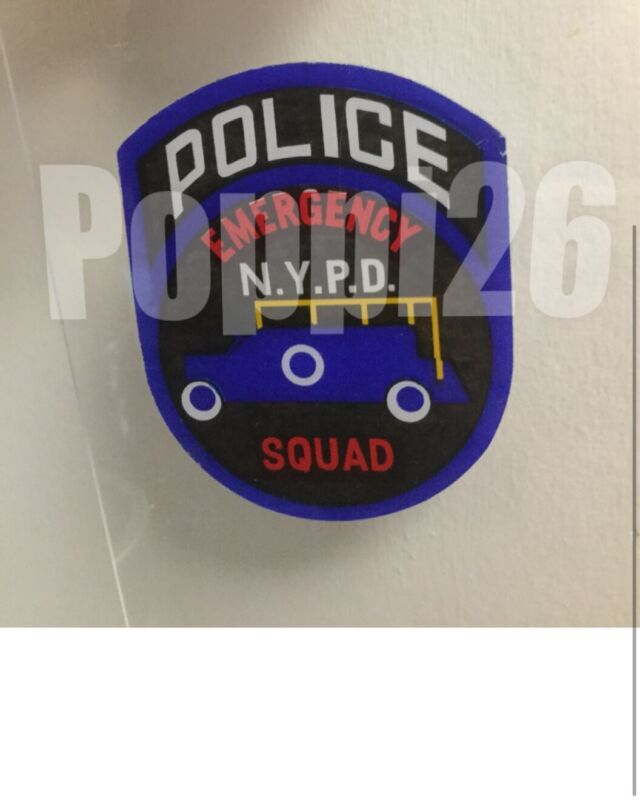NYPD Police EmergencySquad In/Window FACES/OUTSIDE OFFICIAL Decal Sticker Others