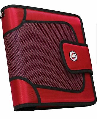 The Open Tab 3-ring Binder 3 Capacity Adjust Velcro 5 Color Tabs Red