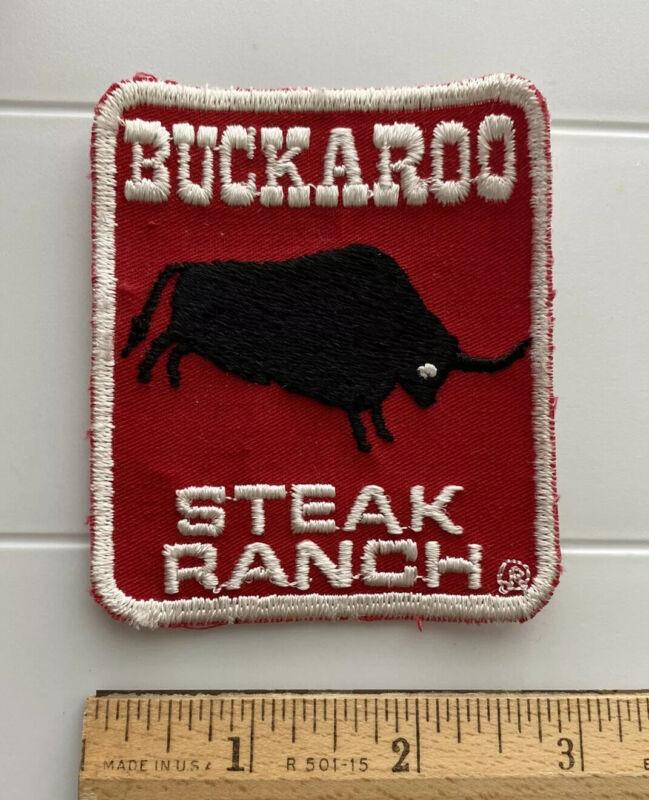 Buckaroo Steak Ranch Roanoke Virginia VA Souvenir Embroidered Patch
