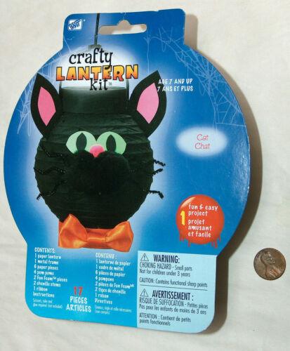 New WT HALLOWEEN Crafty Black Cat Chat Paper Lantern Kit 2008 Westrim Crafts NIP