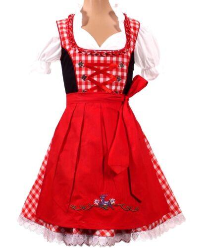Girls,Kids,US sz 6.Germany,German,Trachten,May,Oktoberfest,Dirndl Dress,3-pc.RED