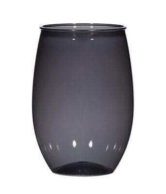 60 Pack Bulk 16 Oz Black Reusable Plastic Wine Glasses USA Made](Black Wine Glasses Bulk)