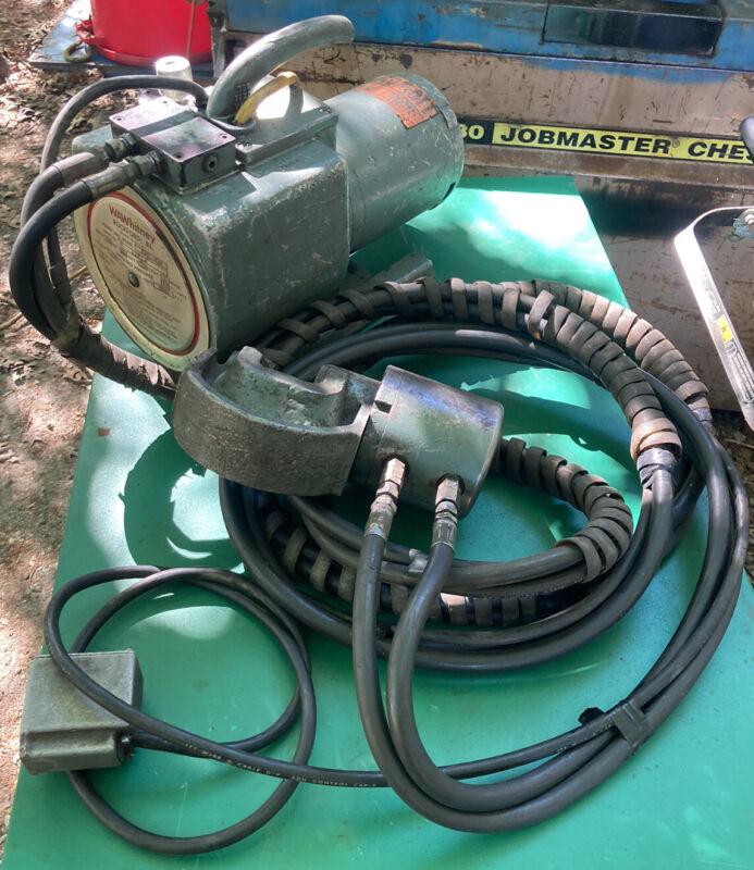 W.A. Whitney Metal Punch 720- W/ 700-432 Hydraulic Pump Fabrication Tool