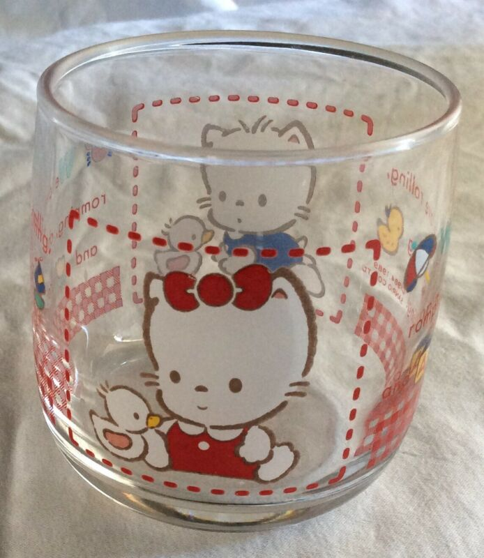 Sanrio Nya Ni Nyu Nye Nyon Small Glass Cup 1984,1989! Adorable!