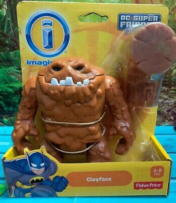 IMAGINEXT Fisher-Price CLAYFACE W/ Hammer DC Super Friends NEW IN BOX! HTF (T10)