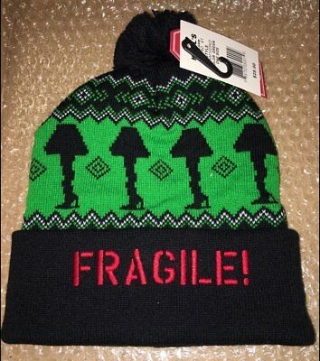 A Christmas Story Hat (NWT A CHRISTMAS STORY LEG LAMP FRAGILE BEANIE KNIT SKI CAP HAT (ONE SIZE))