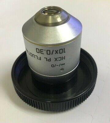Leica Hcx Pl Fluotar 10x M25 0.17d Microscope Objective 506505 Excellent