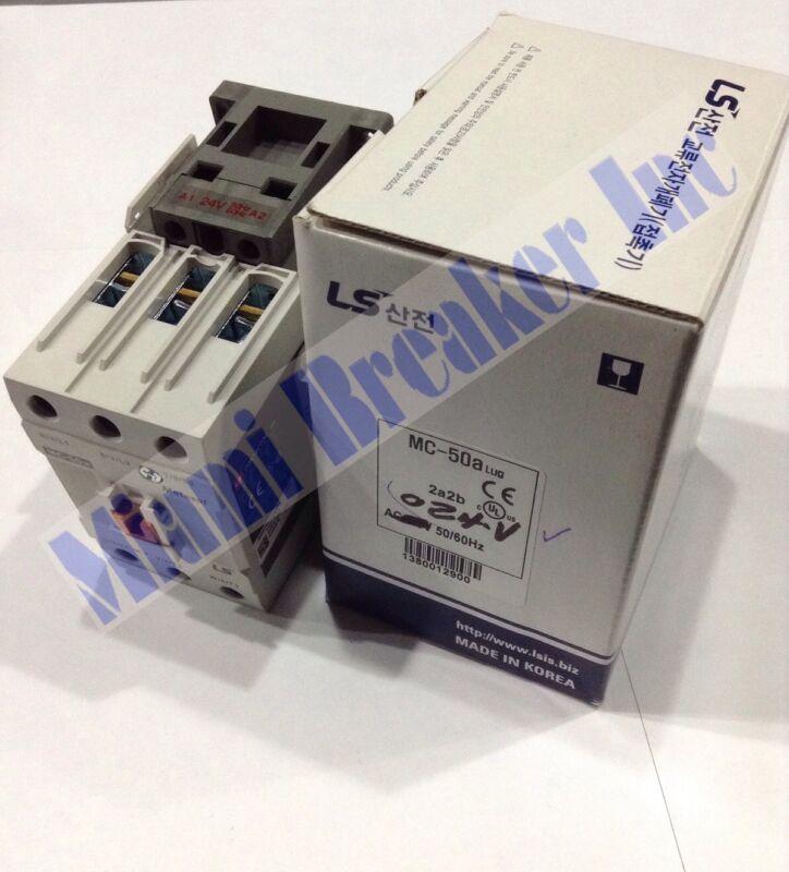 LS METASOL CONTACTOR MC-050a/3-24 3P 70A AC1/50A AC3 COIL 24V INA INC UL 60Hz