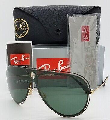 NEW Rayban sunglasses RB3605N 187/71 32mm White;Black Green Classic GENUINE (White Rayban Sunglasses)