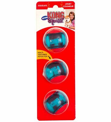 Kong Squeezz Action Ball Red Medium Dog Toy  Free Shipping
