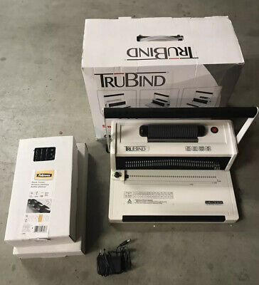 Trubind Tb-s20a Coil Binding Machine - Includes 2 Sizes Of Coils