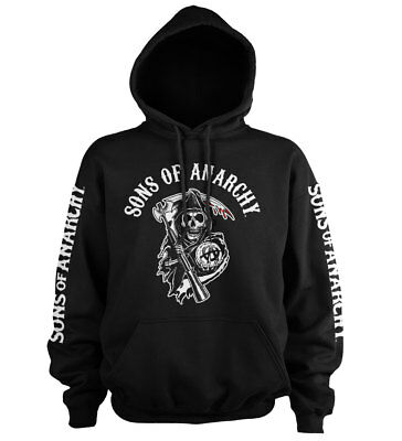Officially Licensed Sons Of Anarchy Logo Hoodie S-XXL Sizes (Sons Of Anarchy Hoodies)