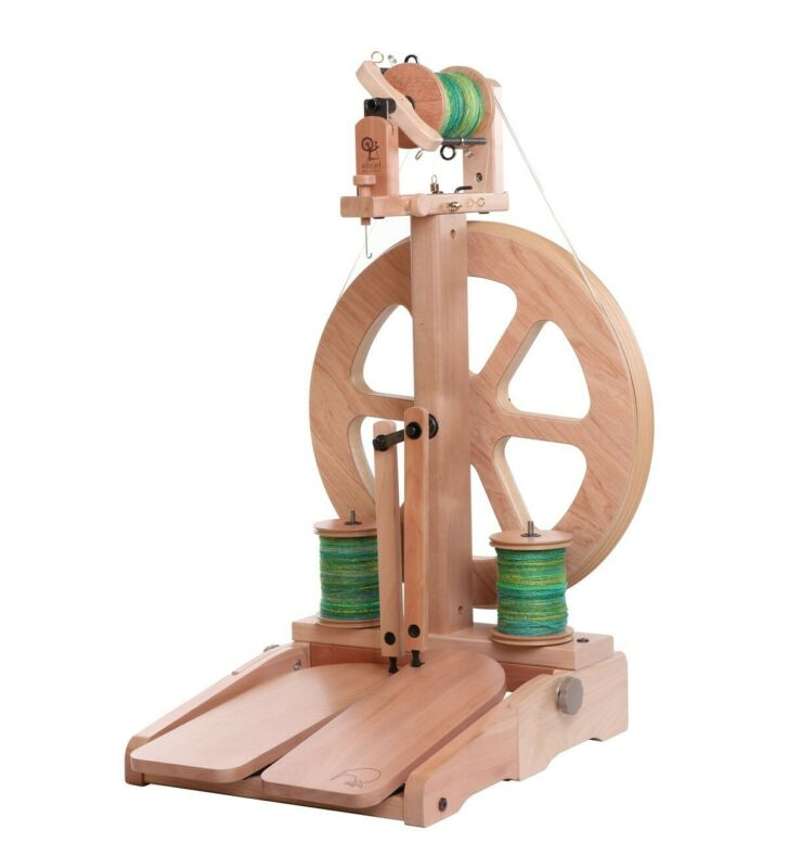 Ashford Kiwi-3 Spinning Wheel - Unfinished, Folding Treadles - FREE Shipping