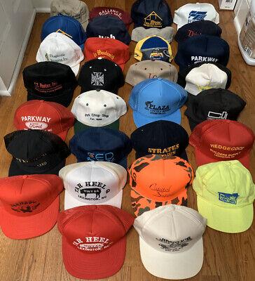 Vtg 30 Huge Hat Lot Trucker Mesh Snap Back Foam Baseball USA Patch Sports Caps