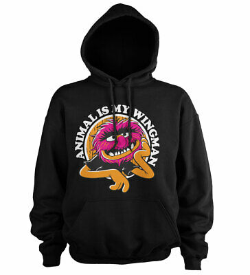 Muppets Animal Hoodie (Officially Licensed The Muppets - Animal Is My Wingman Hoodie S-XXL)