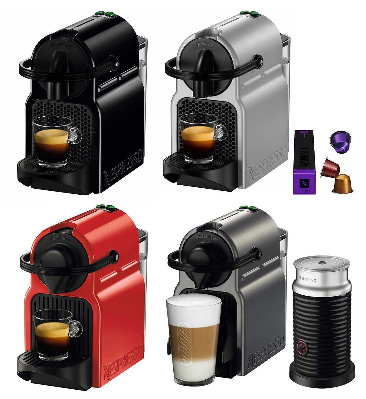 Nespresso Inissia Espresso Maker Brewer w/ Optional 16 Capsu
