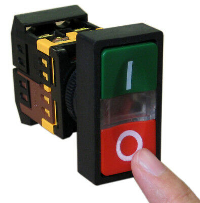 Onoff Startstop Push Button W Light Indicator Momentary Switch Red Green Squar