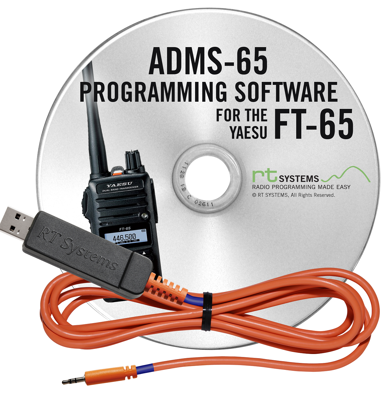 Rt Systems Adms 65 Programming Software And Usb 55 Cable For The Electrical Wiring Made Easy Yaesu Ft 65r