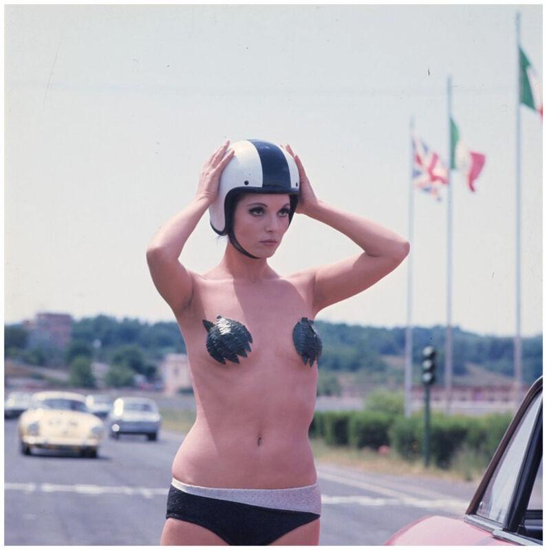 Elsa Martinelli Replacing The Helmet 8x10 Photo Print