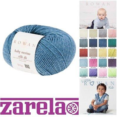 Rowan Baby Merino Seide Dk-Garn 50g Alle Farben und Muster Bücher ()