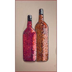 Crackle glass wine wall art decor wine bottles great home for Wall decor wine bottles