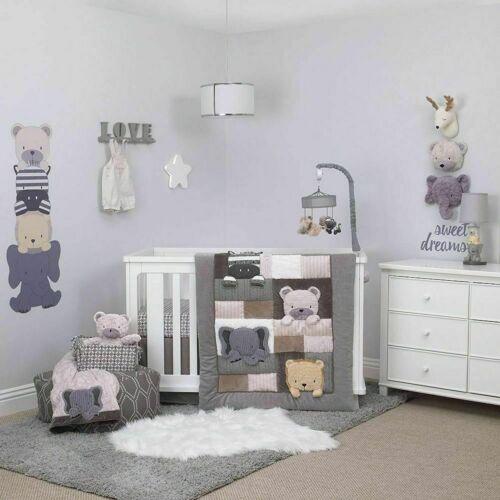 Play Day Pals Animal 7 piece (W/Mobile) Nursery Crib Bedding Set by NoJo