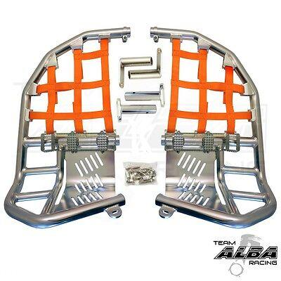 Raptor 700  Nerf Bars  Pro Peg  Heel Gaurds  Alba Racing  Silv Orange 197T7 SO