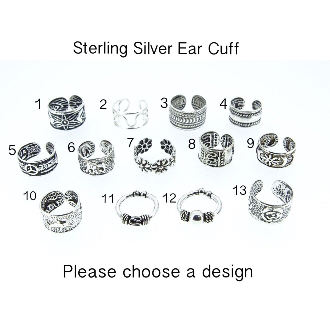 Jewellery - Sterling Silver Ear Cuff Huggy Bali Fake Earring Septum Tragus Body Jewellery