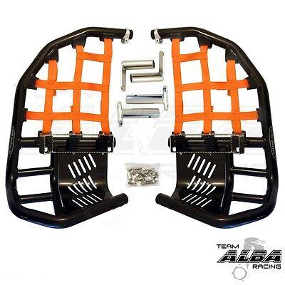 Yamaha Raptor 700  Nerf Bars Pro Peg Heel Guard  Alba Racing Black Orange    BO