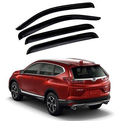 For 2017-2019 Honda CRV CR-V 4pcs Window Sun Rain Visors Guard Wind Deflector