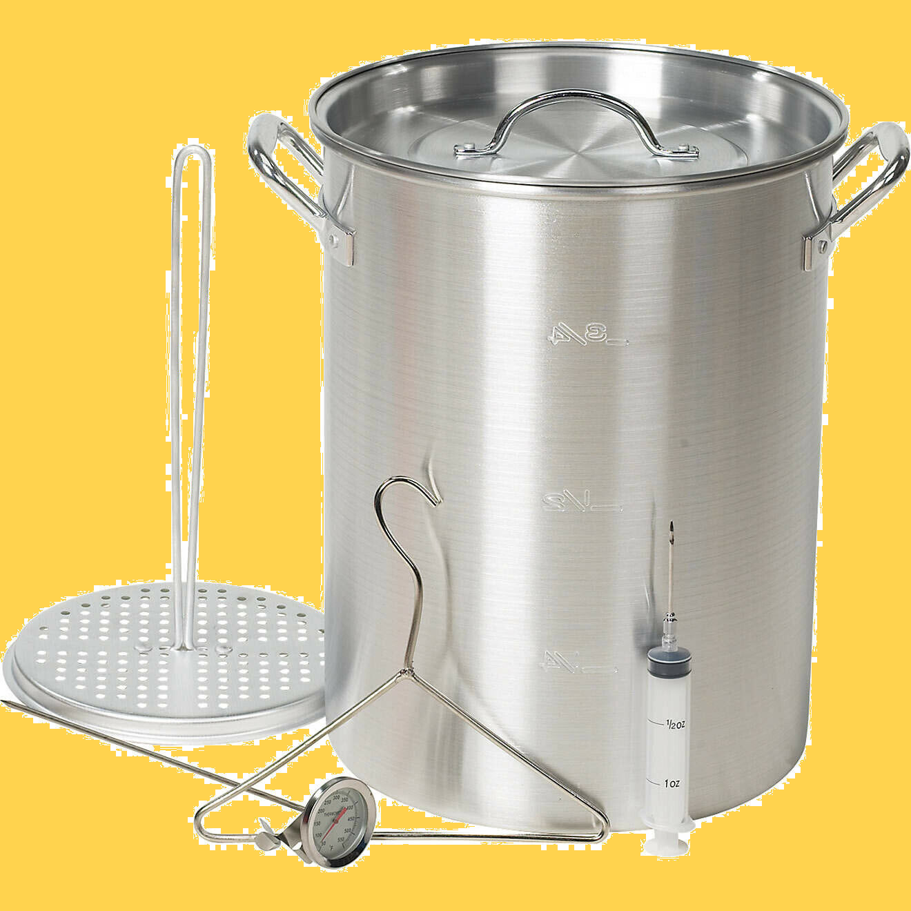 Outdoor Gourmet 30 qt. Aluminum Pot Kit - Injector - Thermom