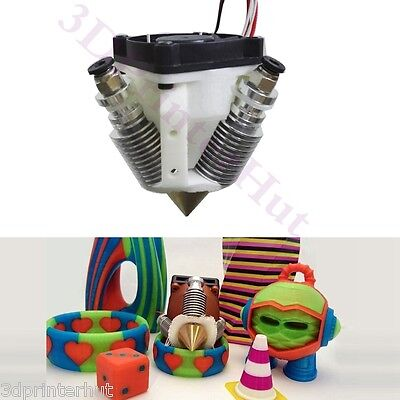 Reprap Prusa 3D Printer V6 Diamond Hotend Multi Color HotEnd 3 IN 1 OUT Extruder