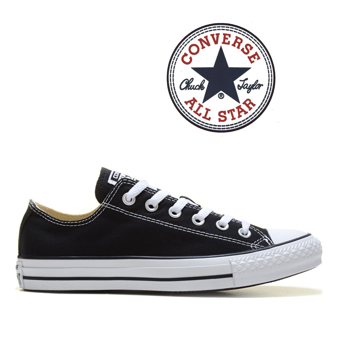 Details about Mens Converse Chuck Taylor All Star Low Top Canvas Fashion Sneaker Black All SZs
