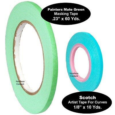 14 Painters Masking Tape .23 With 18 Artist Tape For Curves