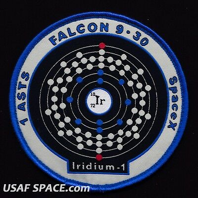 Falcon 9 Iridium 1 Spacex   1 Asts   30Sw Vafb Usaf Space Launch Patch