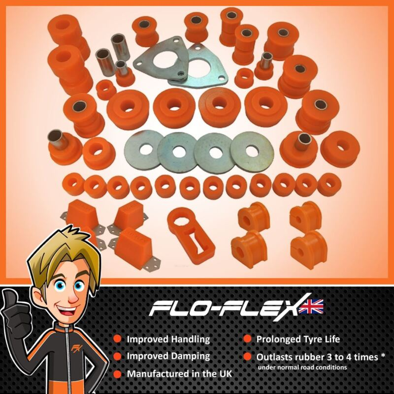 Discovery 1 & Defender 90 1994+ Complete Front & Rear Bush Kit in Polyurethane