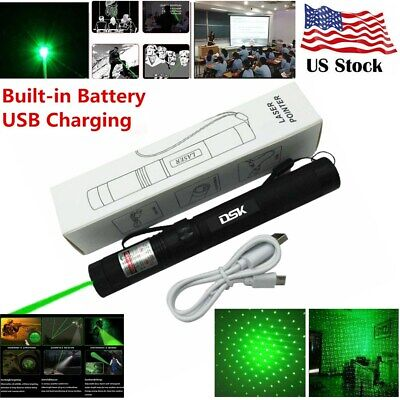 1mw 990miles Green Laser Pointer Pen Usb Rechargeable 532nm Visible Beam Lazer