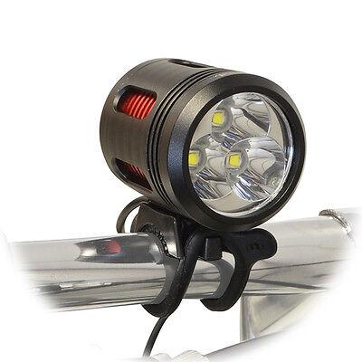 Lumintrail 3000 Lumen LED Bike Headlight USB Rechargeable with Helmet Strap