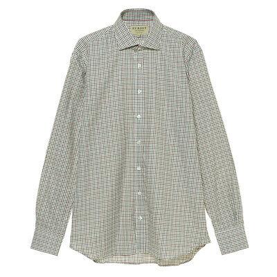 James Purdey McKenzie Check Shirt Sage Green - MID SEASON SALE
