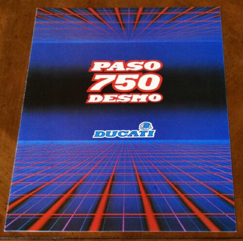 Ducati Paso 750 brochure Prospekt, 1986