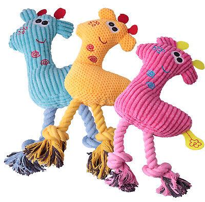 Hundespielzeug Hunde Seil Plüsch Spielzeug Quietscher Apportierspielzeug Giraffe Hund Plüsch Spielzeug