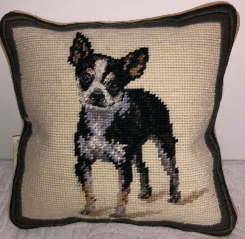 """Brand New Chihuahua Dog Wool Needlepoint Pillow 10"""" by 10"""""""