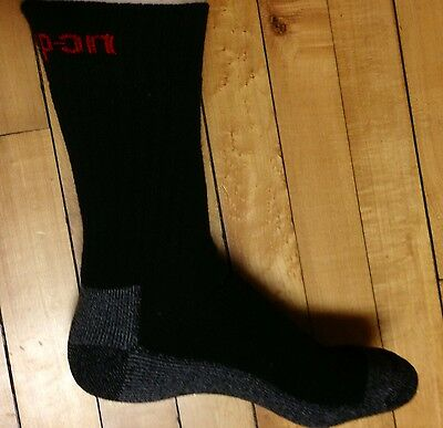 12 Pairs Mens Black Snap On Crew Socks L ~ FREE Shipping ~ MADE IN USA     New!