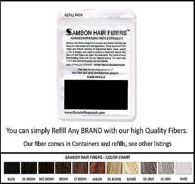 Samson Best Hair Loss Concealer Building Fibers LIGHT BROWN 300g Refill USA