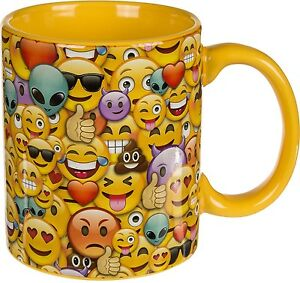Kaffeebecher Becher Tasse Emoticon Emoji »Emotion Family« Geschenk Liebe Smiley