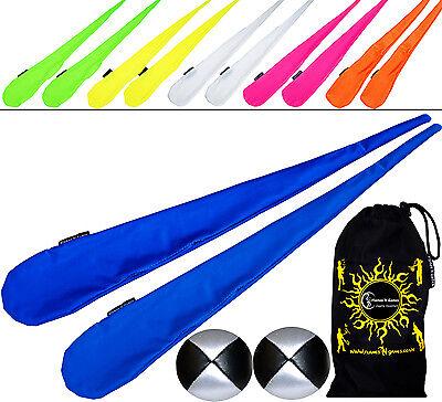 Sock Poi Set (Green) High Quality Stretchy Tube Poi Socks, Balls & Bag. Poi Spin