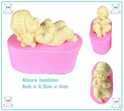 STAMPI IN SILICONE BABY/BIMBO/BIMBA/BEBE.MOULE CHILD PER GESSO SAPONE RESINA